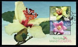 Norfolk Island 2017 Flowers Minisheet Used - Norfolk Island