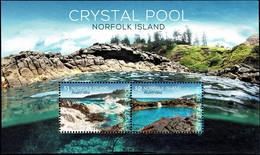 Norfolk Island 2018 Crystal Pool Minisheet Used - Norfolk Island