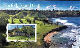 Norfolk Island 2018 Golf Minisheet Used - Norfolk Island
