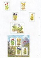 TADZHIKISTAN - 1998 - Flowers - Perf 4v Set, Souv Sheet & 4v Souv Sheet - Mint Lightly Hinged - Tajikistan