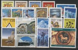 ANDORRE FRANCAIS 2002 ANNEE COMPLETE COTE 69.11 € N° 555 à 574 NEUFS ** (MNH). Vendue Sous La Valeur Faciale (-35%). TB - Full Years