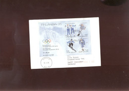 W Olympic 1994 Cover, Lettre, Brief Of Finland - Winter 1994: Lillehammer