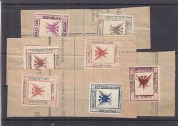 Albanie - Yvert 52 / 58 Sur Fragment - Valeur 50 Euros - Albania