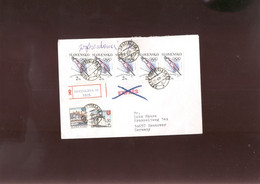 W Olympic 1994 Cover, Lettre, Brief Of Slovakia Registered - Winter 1994: Lillehammer
