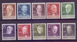 Berlin Berühmte Männer 1952 - MiNr. 91/100 Postfrisch** - Michel 130,00 € (873) - Unused Stamps