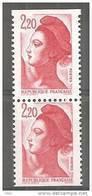 YT 2427a Paire Issue Du Carnet 2427-C 1 Bas Prix Peu Proposé TRES RARE - 1982-90 Libertà Di Gandon