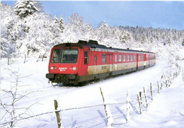 """Train Dole -St Claude Le X 2734 'R.G.P.1 """" Sort Du Tunnel Du Saut à La Chaumusse Sous Une Temete De Neige RV - Unclassified"""