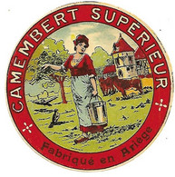 ETIQU. CAMEMBERT SUPERIEUR Fabriqué En ARIEGE 09 - Cheese