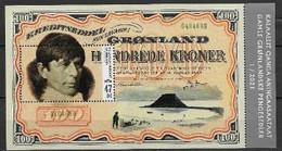 Groënland 2021, Bloc Neuf, Billet De Banque Ancien Avec Rasmussen - Blocks & Sheetlets