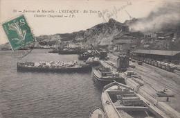 CPA - MARSEILLE L'ESTAQUE (BOUCHES DU RHÔNE) - CHANTIER CHAGNIAUD - L'Estaque