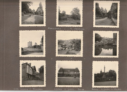 73 PHOTOS  1955 - CONCARNEAU / PONT AVEN / ÎLE AUX MOINES / VANNES / CAMARET / LOCRONAN / RENNES / FOUGERES / JOSSELIN - Lugares