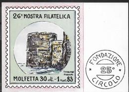 26° MOSTRA FILATELICA MOLFETTA 1983 - FORMATO GRANDE - NUOVO - Stamps (pictures)