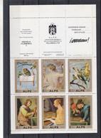 Espagne - BF Avec 6 Timbres ** - Peintures - Rubens - Teniers - Steen - Snyders - Hiboux - Musique - Rubens