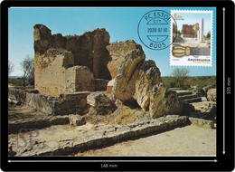 Portugal 2020 Postal Máximo Ruínas Milreu Estoi Algarve Roman Ruines Romaines Archeology Archéologie Maximum Maxicard - Archaeology