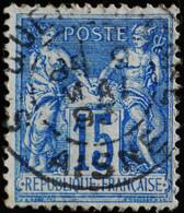 -Sage N°90 Type II  Ob  ( CAD  )   ST QUENTIN GARE 1893. - 1876-1898 Sage (Type II)