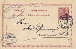 Kiautschou 1902 Tsingtau Type 7 China Overprinted Postal Stationary Card - Kantoren In China
