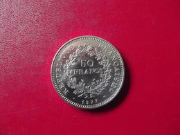 50 F Hercule Argent 1977 - M. 50 Francos