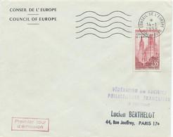 ENVELOPPE FDC CONSEIL DE L'EUROPE STRASBOURG 14/01/1958 - 1950-1959