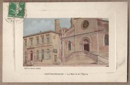 CPA 13 - CHATEAURENARD - La Mairie Et L'Eglise - TB PLAN Façades Edifices CENTRE VILLAGE - Chateaurenard