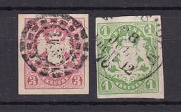 Bayern - 1867 - Michel Nr. 14/15 - Gestempelt - 25 Euro - Bayern