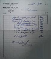 G 25 Facture/document Entete Vetements à Jallais - Textilos & Vestidos