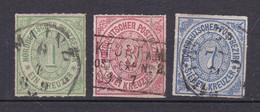 Norddeutscher Postbezirk - 1868 - Michel Nr. 7 + 9/10 - Gestempelt - 30 Euro - Norddeutscher Postbezirk
