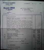 G 25 Facture/document Entete Maçonnerie à La Jubaudière - Otros