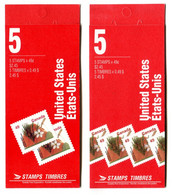 RC 20966 CANADA ARBRE FLEURS POMMIER 2 COUVERTURES DIFFERENTES CARNETS COMPLETS BOOKLETS MNH NEUF ** - Libretti Completi