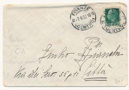 1932 PERFIN CA CREDITO ASCOLANO ? IN USO IMPROPRIO SU LETTERA DA FIRENZE - Storia Postale