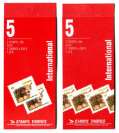 RC 20969 CANADA ARBRE FLEURS POMMIER 2 COUVERTURES DIFFERENTES CARNETS COMPLETS BOOKLETS MNH NEUF ** - Libretti Completi