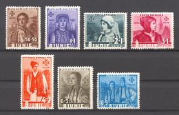 Romania, 1936, Coronation Of King Carl II, Costumes, MNH, Michel 509-515 - Ohne Zuordnung