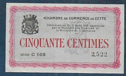 Chambre De Commerce De CETTE -  50 Centimes - Pirot N° 1 - Chamber Of Commerce
