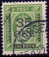Denemarken 1912 Opdruk 35öre Op Dienstzegel GB-USED - Usati