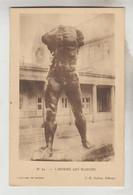 3 CPSM ARTS SCULPTURE - OEUVRE DE RODIN : L'homme Qui Marche, Un Bourgeois De Calais, Eternelle Idole - Sculptures