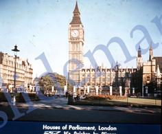 50s PAA PAN AM AMERICAN AIRWAYS LONDON ENGLAND UK 35mm SLIDE PHOTO FOTO O13 - Diapositives (slides)