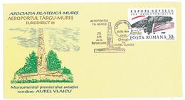 COV 24 - 271 AIRPLANE, Airport, Targu Mures, Romania, Aurel Vlaicu - Cover - Used - 1994 - Airplanes