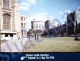50s PAA PAN AM AMERICAN AIRWAYS WINDSOR CASTLE BERKSHIRE ENGLAND UK 35mm SLIDE PHOTO FOTO O14 - Diapositives (slides)