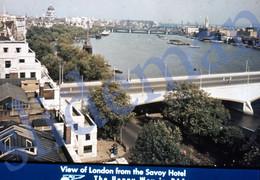 50s PAA PAN AM AMERICAN AIRWAYS LONDON ENGLAND UK 35mm SLIDE PHOTO FOTO O16 - Diapositives (slides)
