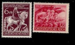 Deutsches Reich 907 - 908 Feldherrnhalle / Der Volksturm MNH Postfrisch ** Neuf - Nuevos