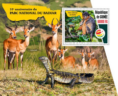 Guinea 2020 Fauna  Badiar National Park ,monkey ,antelope ,lizard  S202102 - República De Guinea (1958-...)