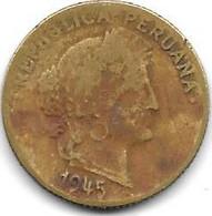 *peru 10 Centavos 1945  Km 244.1 - Peru
