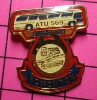 113d Pin's Pins / Beau Et Rare / THEME : TRANSPORTS / AUTOBUS ROUTIER CANADA ATU 569 EDMONTON - Trasporti