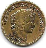 *peru 20 Centavos 1948  Km 221.2 - Peru