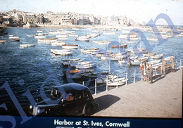 50s PAA PAN AM AMERICAN AIRWAYS CORNWALL HARBOR ENGLAND UK 35mm SLIDE PHOTO FOTO O25 - Diapositives (slides)