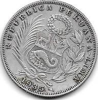 *peru 1/2 Sol  1935  Km 216  Xf - Peru