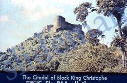 50s PAA PAN AM AMERICAN AIRWAYS CITADEL OF BLACK KING CHRISTOPHE 35mm SLIDE PHOTO FOTO O27 - Diapositives (slides)