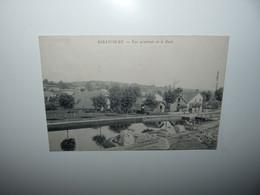 88 VOSGES GIRANCOURT CPA VUE GENERALE ET LE FORT QUAI DE CHARGEMENT DEPÔT DE PIERRES ANNEE 1912 - Sonstige Gemeinden