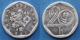 CZECH REPUBLIC - 20 Haleru 1993 KM# 2.1 Republic Since 1993 - Edelweiss Coins - Czech Republic