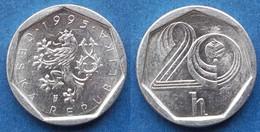 CZECH REPUBLIC - 20 Haleru 1995 KM# 2.1 Republic Since 1993 - Edelweiss Coins - Czech Republic