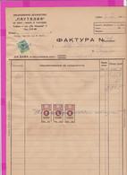 261670 / Bulgaria 1946 - 5+5+5 Leva (1941)+Overpr. 3/16 Trade Pension Revenue  , Invoice - Pautalia Company Sofia - Other